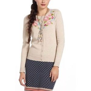 Tabitha Felted Flora Tan Cardigan Sweater